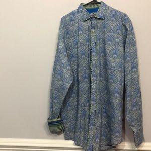 Robert Graham Blue Green Shirt Sz XLT 👔Beautiful